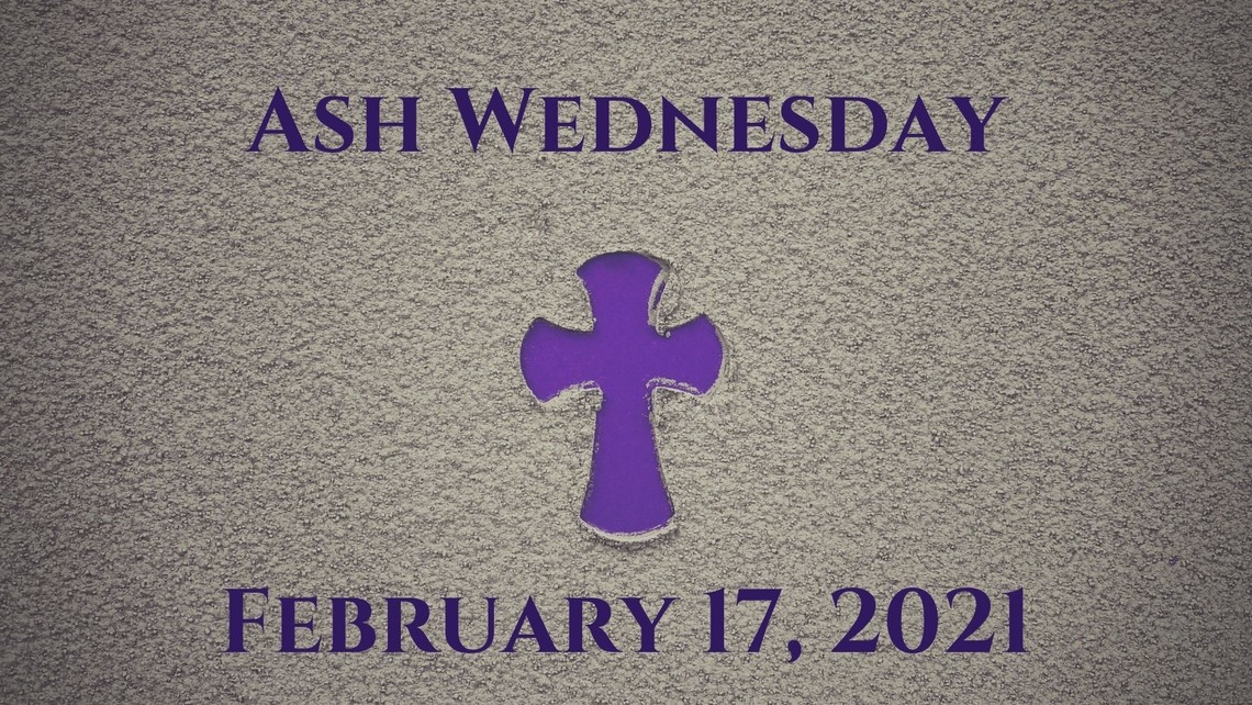 Ash Wednesday Event Card