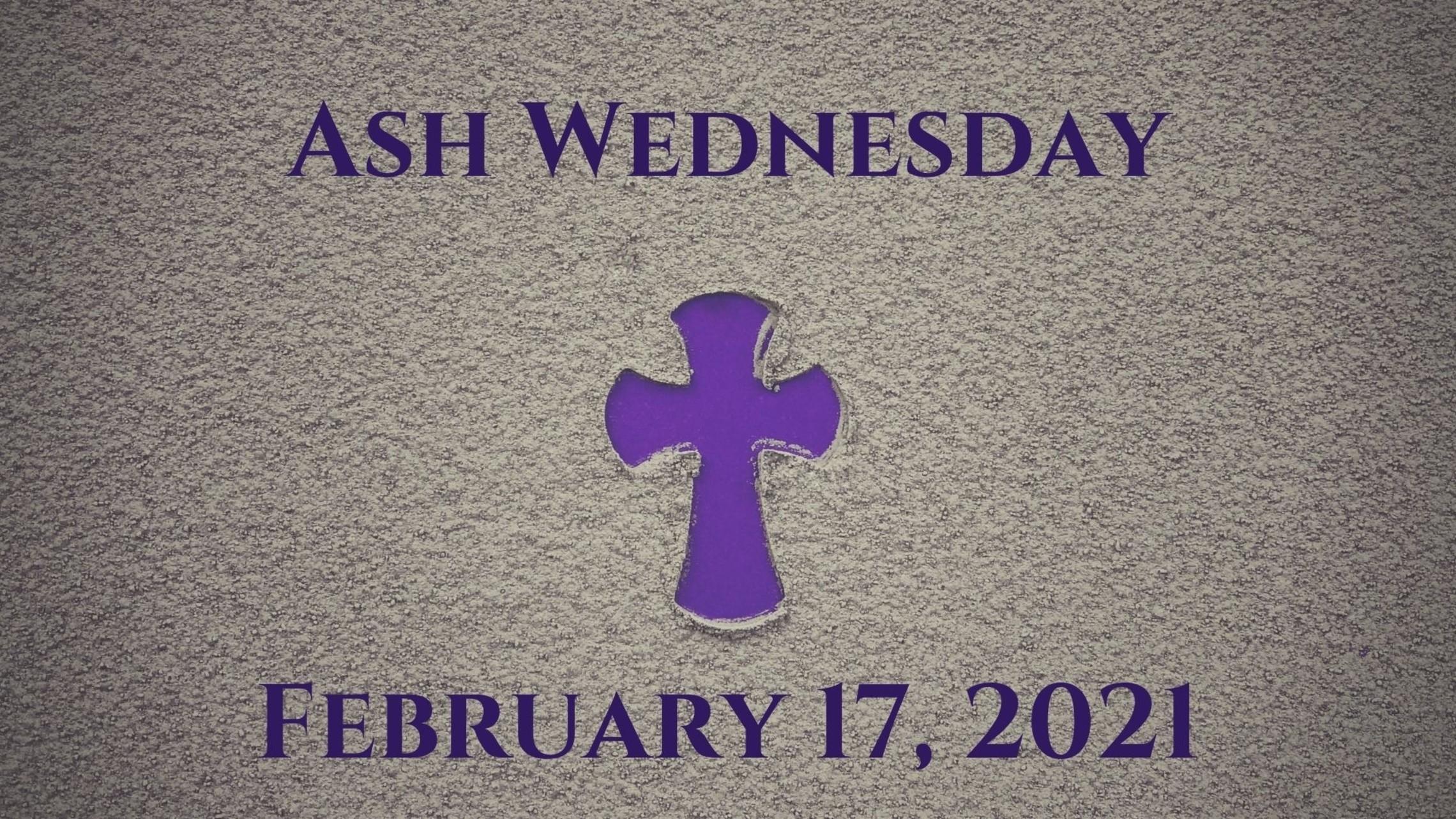 Ash Wednesday Event Card